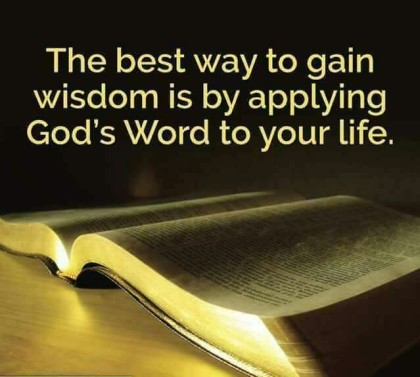 wisdom in the word