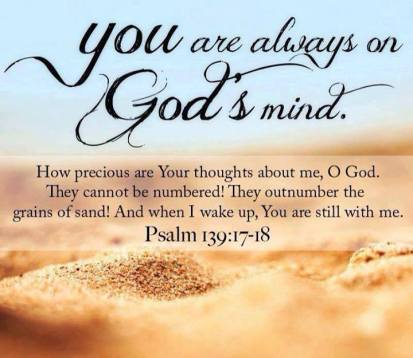 what is god thinking about you