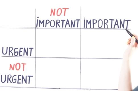 important over urgent