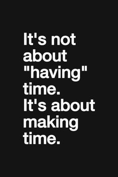 make time for others