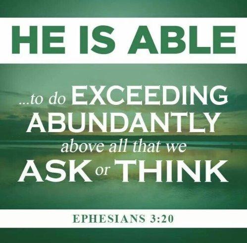 exceedingly above