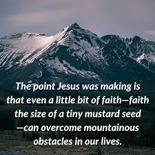 faith that moves mountains