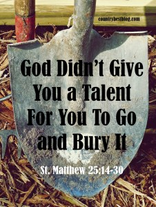 don't bury your talent